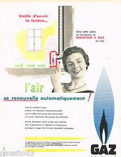PUBLICITE ADVERTISING 085  1956  le radiateur  GAZ DE VILLE