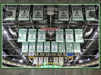 NBA TD Gardens Boston Celtics Championship Banners Color 8 X 12 Photo Picture