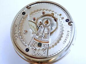 Antike Waltham Taschenuhr Kaliber 3 um 1889. Amerikanische Unitas