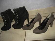 lot bottines + chaussures à talon haut - chic  p 40 --