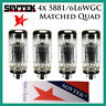 New 4x Sovtek 5881 / 6L6WGC / 6L6 | Matched Quad / Quartet / Four | Power Tubes