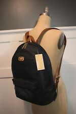 NWT MICHAEL KORS Med Navy Nylon Saddle Saffiano Leather Strap JET SET Backpack