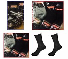 5-100 Dozens Wholesale Lots Mens Sports Crew Socks P274 Solid Blacks 9-11 10-13