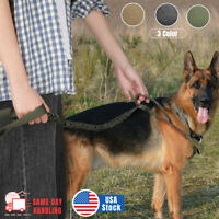 Retractable Nylon Rope Dog Leash Tactical K9 for Large Dog Heavy Duty Coupler US