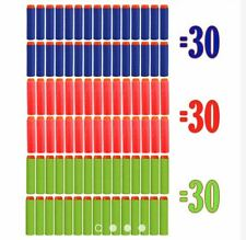 90pcs Refill Bullet Darts for Nerf Toy Gun Blue Red Green