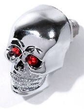 Calavera Skull tornillos matrícula metal cromo rojo small Custom bike 25mm