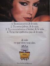 PUBLICITÉ DE PRESSE 1978 VIVRE PARFUM DE MOLYNEUX - ADVERTISING