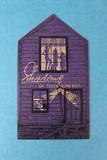 VINTAGE SHADOWS TELEGRAPH HILL  SOUVENIR RESTAURANT DINNER MENU SAN FRANCISCO