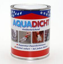 (11,90€/L) Aqua-Dicht grau (1 Liter), Reparatur-Faserdichtmasse, faserverstärkt