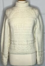 Polo Ralph Lauren womens size large ivory wool sweater turtleneck American flag