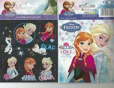 LA REINE DES NEIGES DISNEY 8 stickers métallisés + 1 cp Elsa Anna Love