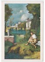 Giorgione - Particular de la Tormenta Tarjeta Postal Mamá Che Cochinillo el Niño