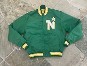 Vintage Minnesota North Stars Starter Satin Hockey Jacket, Size Large