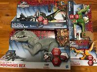 (4) Indominus Rex Hybrid Velociraptor Allosaurus Jurassic World FIGURE LOT Owen