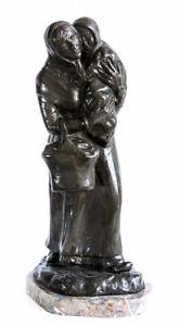 Mère & enfant Bronze signée Auguste BIJA (1872-1957) Bruxelles