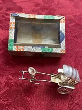 Antique Chinese Silver Plated Rickshaw