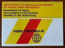 NZG MODELLE 1974 Heavy Equipment German TOY Catalog CATERPILLAR