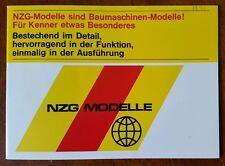 NZG MODELLE 1974 Heavy Equipment German TOY Catalog CATERPILLAR
