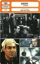 Fiche Cinéma. Movie Card. Europa (Danemark/France/RFA/Suéde) 1991 Lars von Trier