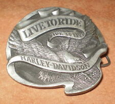 Harley Davidson Ltd Edition Belt Buckle LIVE to RIDE