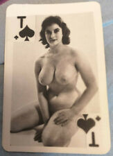 russian playing cards soviet nude pin up girls 50s 869