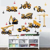 DIY Wall Sticker Transport Cars Truck Digger Kids Rooms Decor Boys Room Art W ME