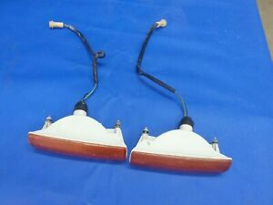 79-81 DATSUN 280ZX FRONT TURN SIGNAL PARKING LIGHTS NICE OEM PARTS!