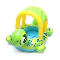 Baby Kids Swimming Ring Inflatable Swim Ring Seat Boat Float with Sunshade