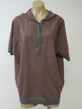 EILEEN FISHER Wool Ash Hooded Sweater Short Sleeve Top PL Petite Large NWT $228