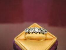 Antique Edwardian era 18k gold and platinum old mine diamond ring size 8
