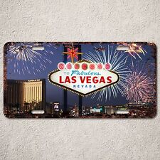 LP314 Las Vegas Welcome Sign Rust Vintage Auto License Plate Home Store Decor