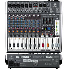 Behringer XENYX X1222USB 12-Channel 6 Mono Mic Input USB PA Mixer