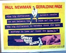 1962  22x28 Poster SWEET BIRD OF YOUTH w/ PAUL NEWMAN