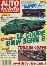 AUTO HEBDO n°624 du 11 Mai 1988 ALPINA B8 OPEL LOTUS TOUR DE CORSE