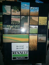 Renault R3151 R3152 80-12 80-14 SP tracteur : notice entretien 03/1987