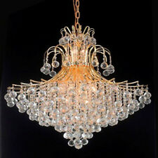 New! Crystal Chandelier Toureg Gold 15 Lights 31X35