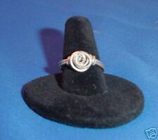Handcrafted sterling silver rose ring custom size 1, 2, 3, 4, 5, 6, 7, 8, 9, 10