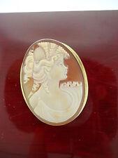 Vintage 18K Gold Cameo Pin/Broach/Pendant
