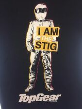 "Top Gear ""I am the Stig"" Ladies T-Shirt S Black BBC 2005 TV Fan Short Sleeve"