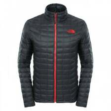 The North Face Thermoball Full Zip Jacket Asphalt Grey Red XXL Td181 HH 03