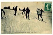 CPA Sports d'hiver dans les Alpes animé