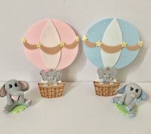 Elephant  Cake Topper And Hot Air Balloon Baby Shower,Party,Set.