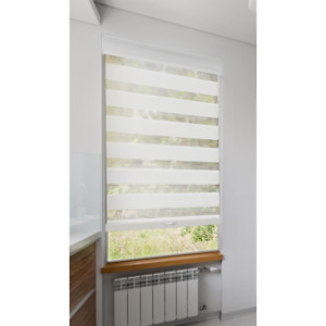 Roller Shade Privacy Light Filtering Cordless Polyester White 31 in. x 72 in.
