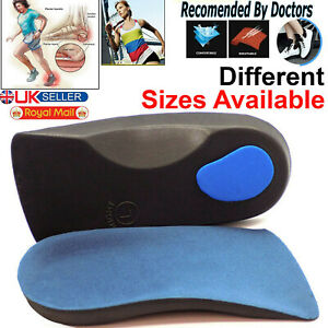Orthotic Flat Feet Foot High Arch Gel Heel Support Shoe Inserts Insoles 3D Pads