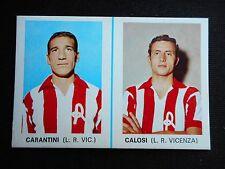 FIGURINA CARTONATA EDIS 1968/69 DOPPIA DISTRIBUTORE CARANTINI/CALOSI VICENZA!!!