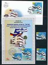 ISRAEL 2015 JOINT ISSUE WITH GERMANY S/LEAF + FDC + STAMPS MNH