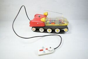 Vintage Collectible Plastic Moon Walker Toy Battey Operated Remote Planethook