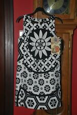 Robe droite Désigual imprimé noir et blanc Taille 38 NEUVE avec étiquette!!