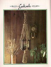 Macrame Hanging Terrarium Holder - BOOK ONLY # Z07 Juliano's Hang It All Book 3