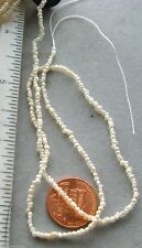 Fresh Water Seed Pearl Beads16 inch strand 1.5x2.5mm approx white